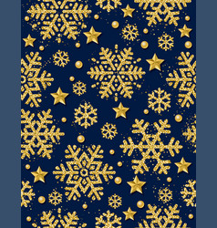 dark blue christmas seamless pattern background vector image