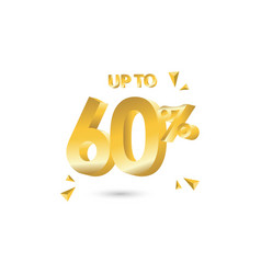 Discount up to 60 template design vector