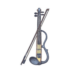 electric violin with bow vector image