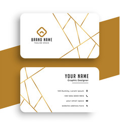 elegant white and gold business card template vector image