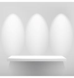 Empty shelfwith spot light eps10 vector