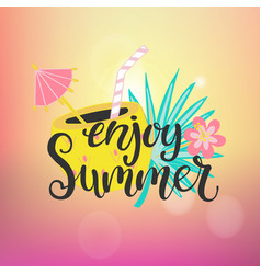 Enjoy summer paradise vector