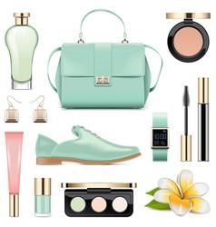 fashion accessories set 5 vector image