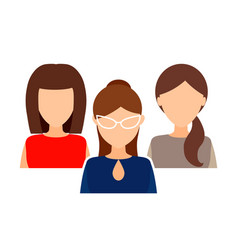 female collective team women in office clothes vector image
