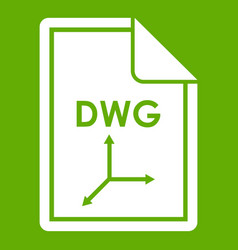 file dwg icon green vector image