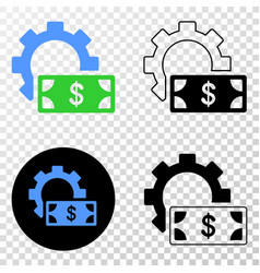 financial settings gear eps icon with vector image