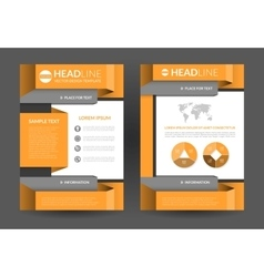 Flyer brochure layout template a4 size vector