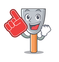Foam finger vintage putty knife on mascot vector