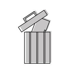 folder document in recycle bin vector image