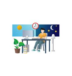 freelancer work concept vector image