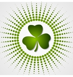 Green shamrock clover St Patrick Day vector image