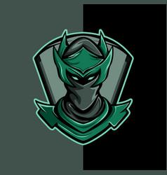 Greenish ninja vector