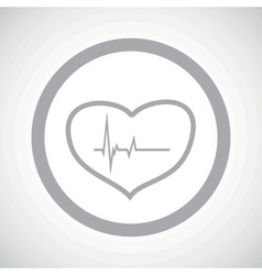 Grey cardiology sign icon vector image