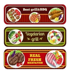 Grill Dishes Banners vector image