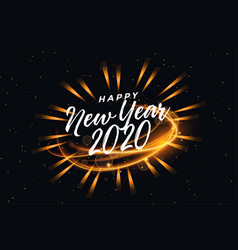Happy new year abstract glowing light background vector