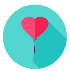 Heart balloon circle icon vector