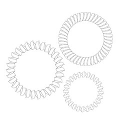 Image of metal springs vector