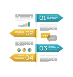 Infographic template on white vector image
