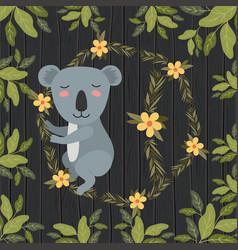 Koala in the forest scene vector