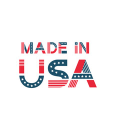 label made in usa american badge with stars vector image