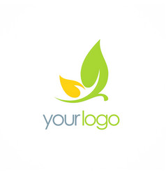 leaf cosmetic organic logo vector image