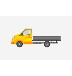 Light truck with trailer side view vector image