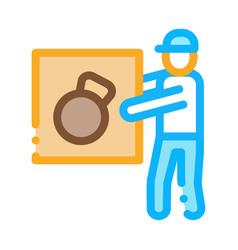 loader icon outline vector image