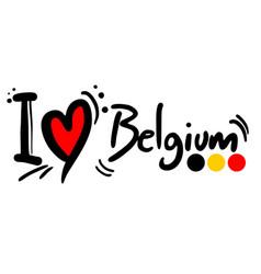 love belgium vector image