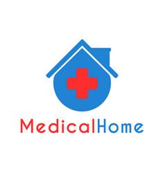 medical home clinic logo design template vector image