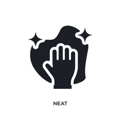 Neat isolated icon simple element from cleaning vector