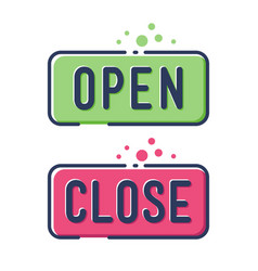 open and close simple flat icon vector image