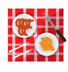 picnic food icon vector image