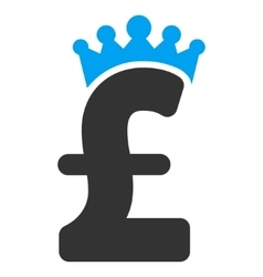 Pound Crown Flat Icon Symbol vector