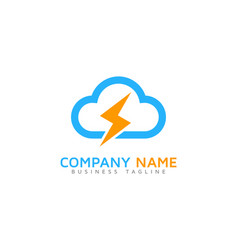 power cloud logo icon design vector image