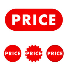 price red button vector image