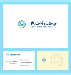 profile logo design with tagline front and back vector image