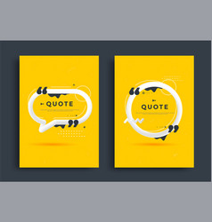 Quotes poster templates design set with speech vector
