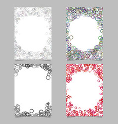 random circle background round brochure border vector image