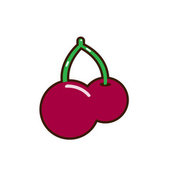 red cherry icon unusual cherry design red vector image