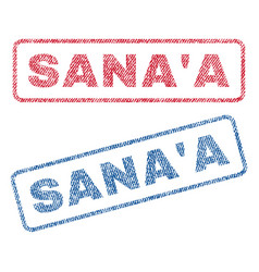 sana a textile stamps vector image