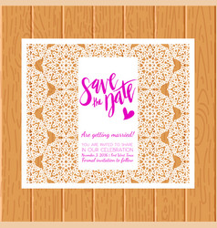 Save the date card laser cutting pattern vector