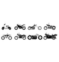Set motorcycle or motorbike bike or extreme vector