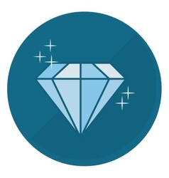 Shiny diamond emblem icon image vector