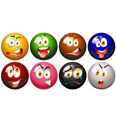 Snooker balls with faces vector