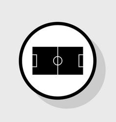 soccer field flat black icon in white vector image
