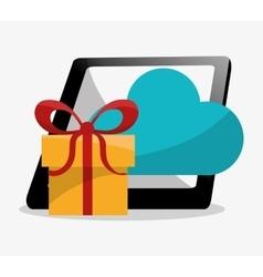 Tablet and digital marketing design vector