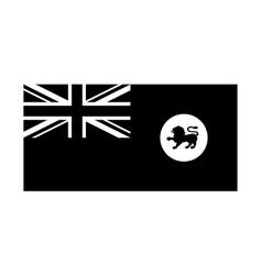 Tasmania tas tassie state flag australia black vector