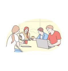 teamwork brainstorming business meeting vector image