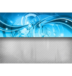 tech background line top blue vector image