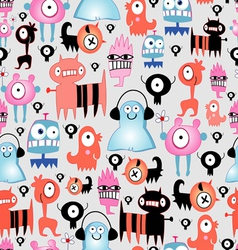 texture of funny monsters vector image